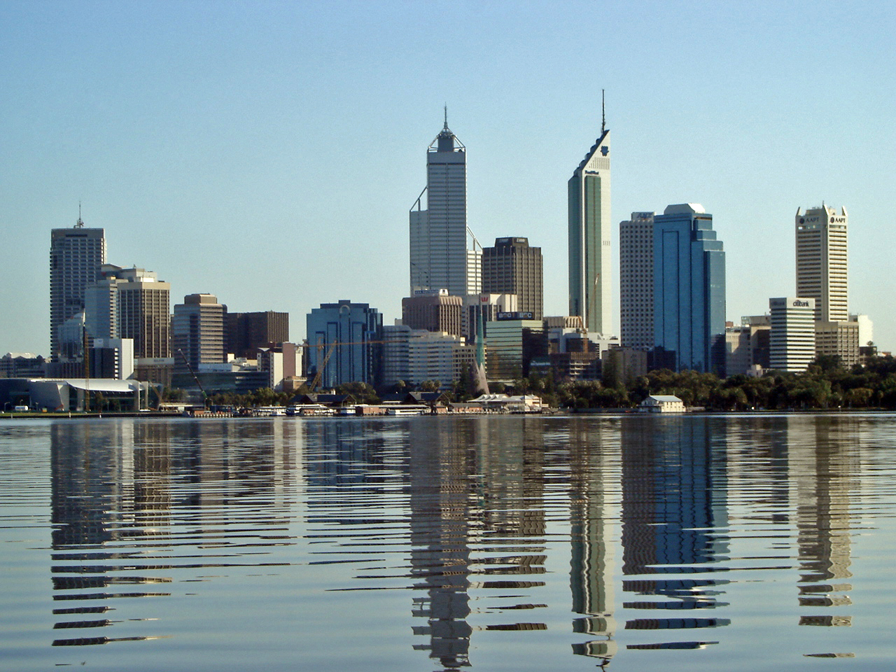 The skyline of Perth, Western Australia. (Courtesy of Wikimedia)