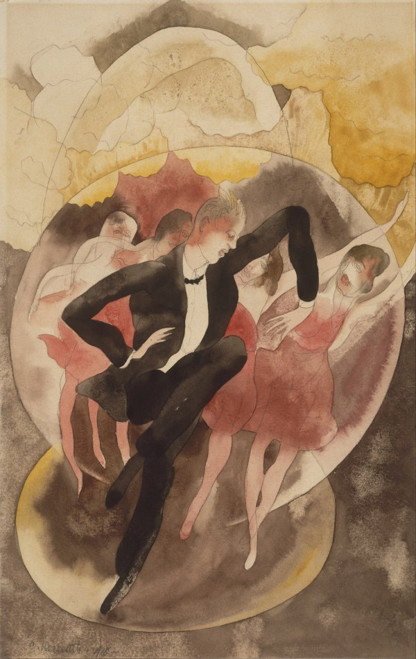 File Charles Demuth American - In Vaudeville Dancer With Chorus Google Art