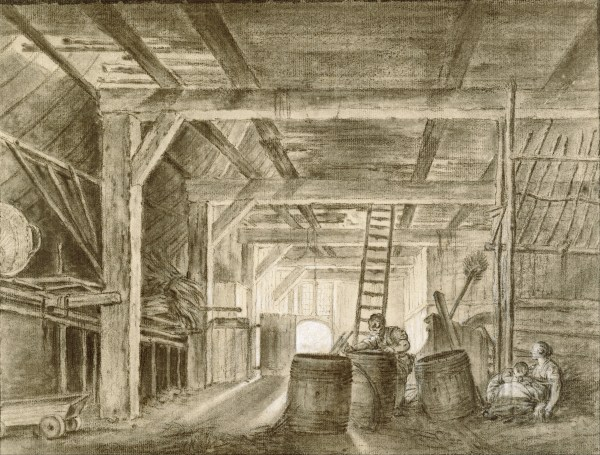 File Franois Boucher French - Interior Of Barn With