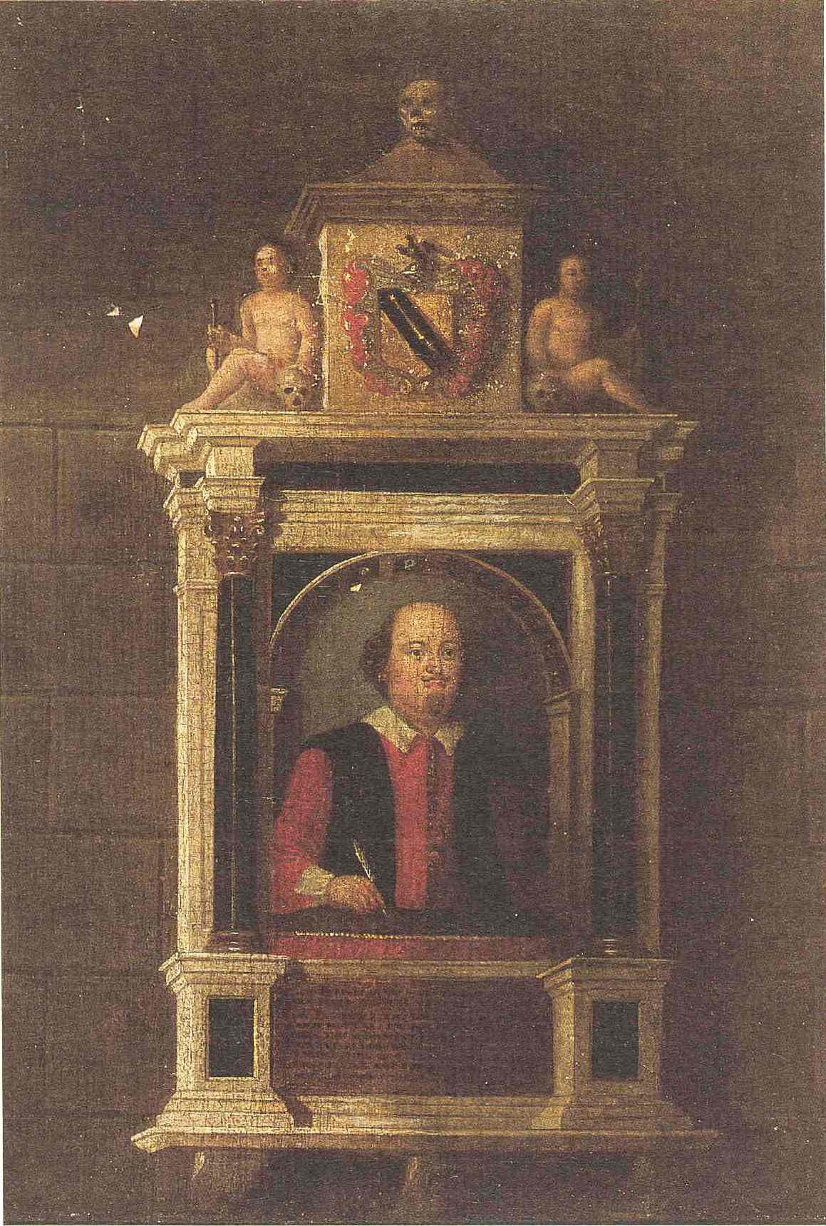 Shakespeares funerary monument  Wikipedia