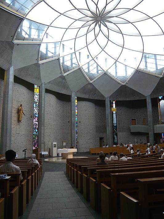 Il tetto della chiesa