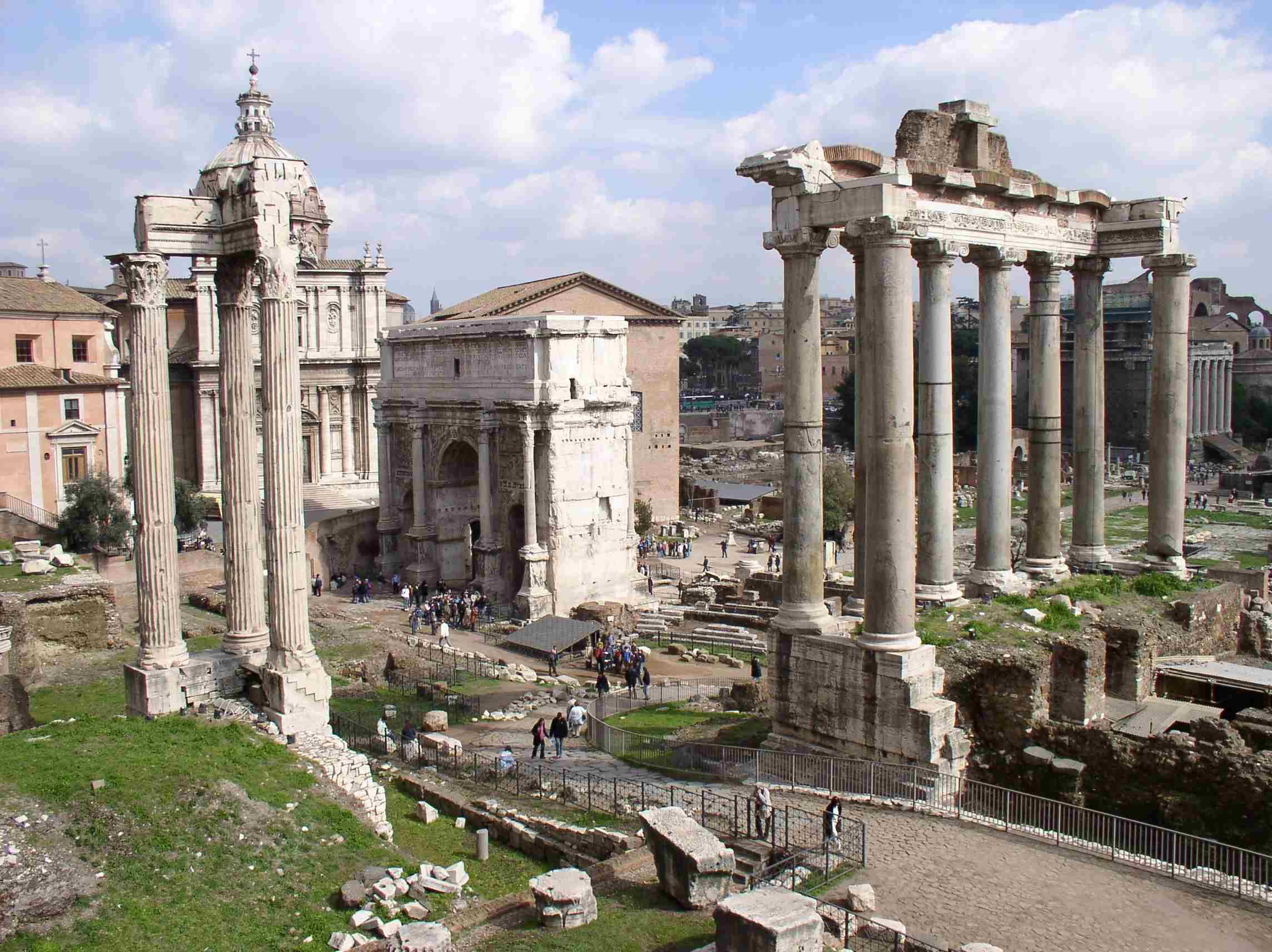 Vodeo Panorama Forum Romanum.