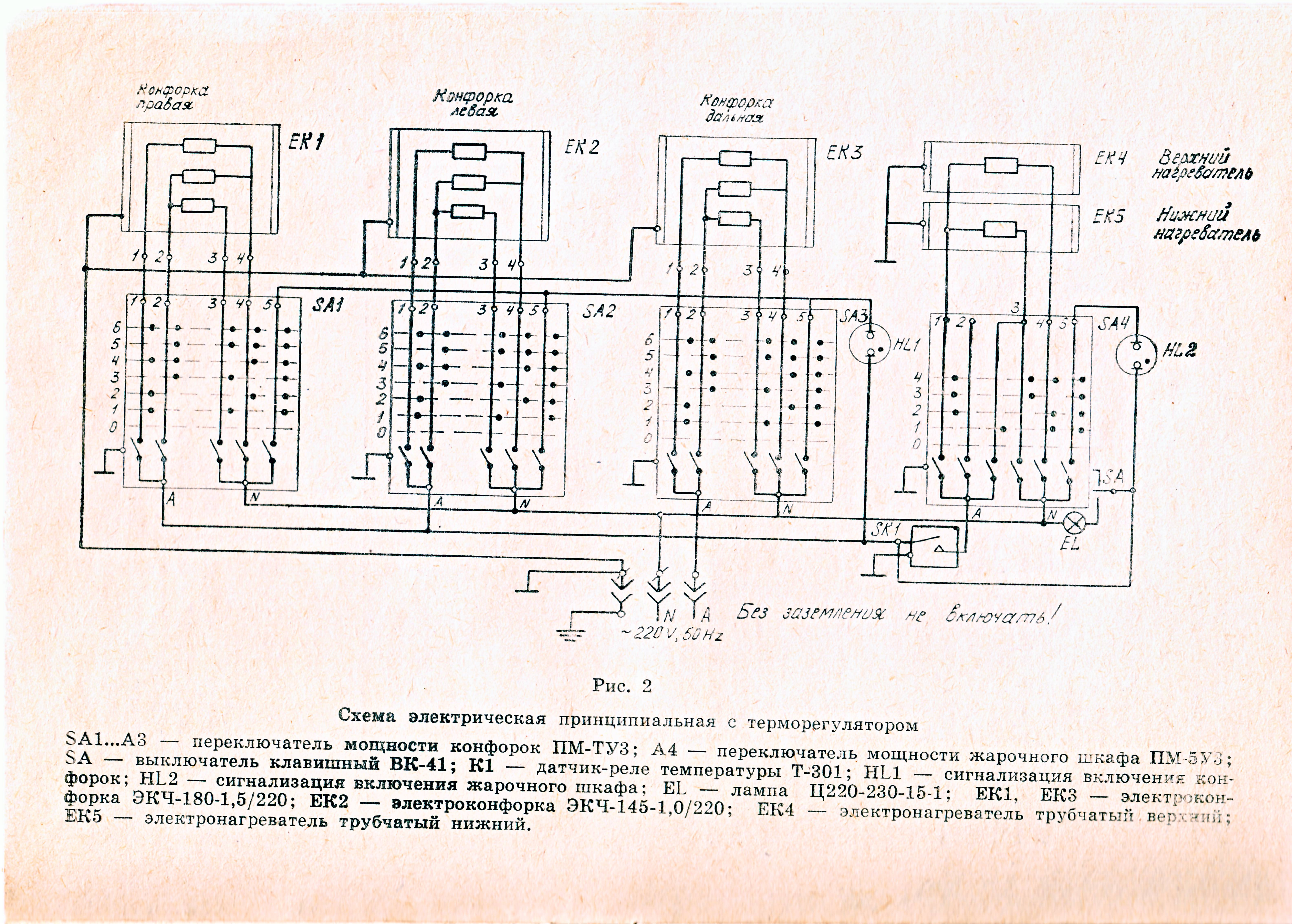 File Wiring Diagram Of USSR Electric Stove JPG Wikimedia Commons