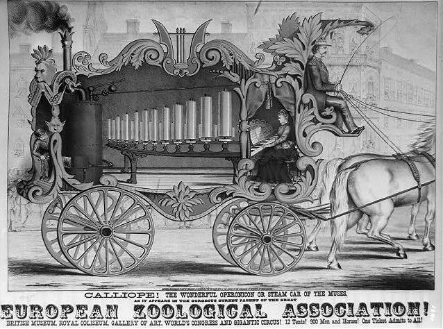 Calliope music wagon for the European Zoological Association, 1872.
