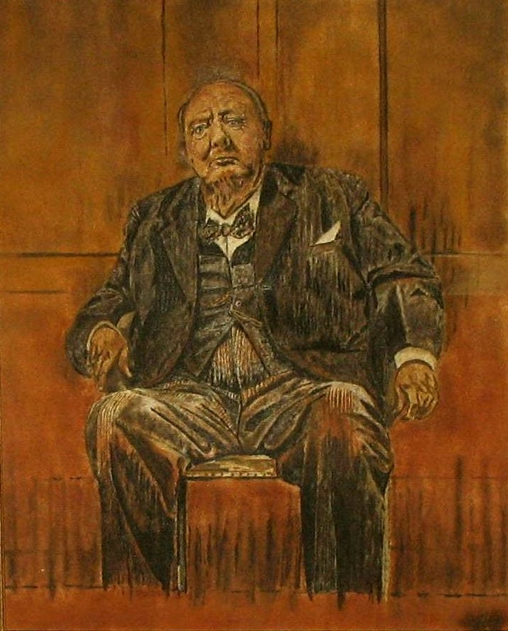 Winston Churchill Painting By Sutherland : winston, churchill, painting, sutherland, File:Sand, Painting, Winston, Churchill.jpg, Wikimedia, Commons