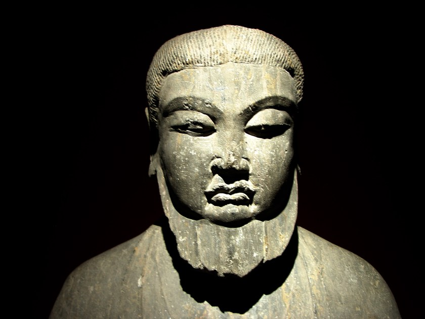 Picture of a stone statue of Laozi in Shanghai Museum