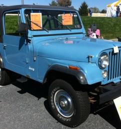 file 1980 jeep cj 7 blue v8 automatic hershey 2012 jpg [ 2512 x 1731 Pixel ]