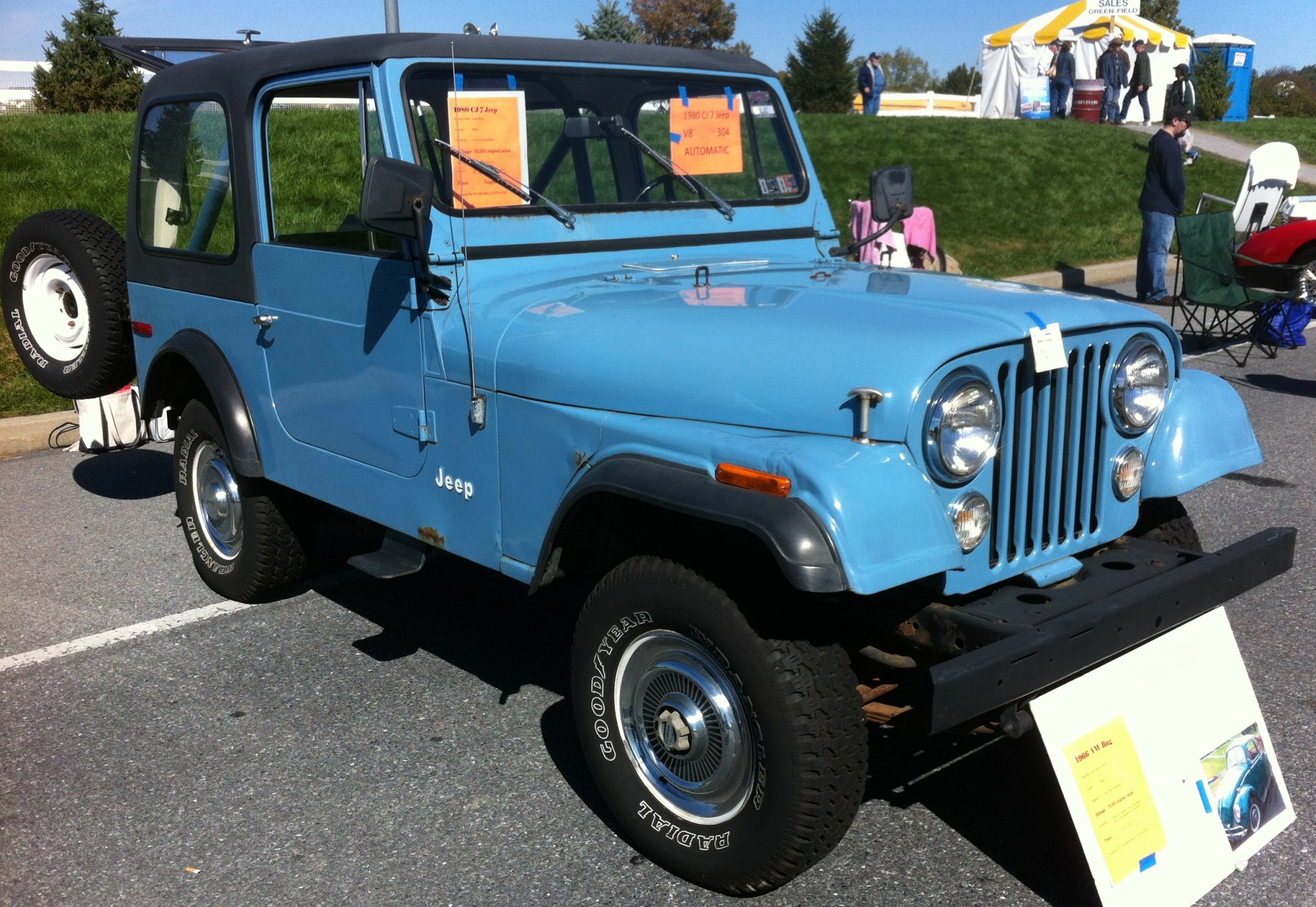 hight resolution of file 1980 jeep cj 7 blue v8 automatic hershey 2012 jpg