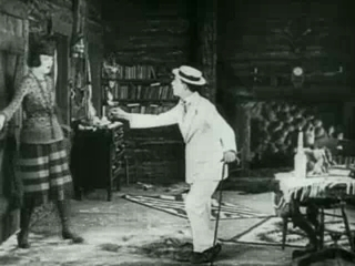 Screenshot from the 1922 Buster Keaton film Th...
