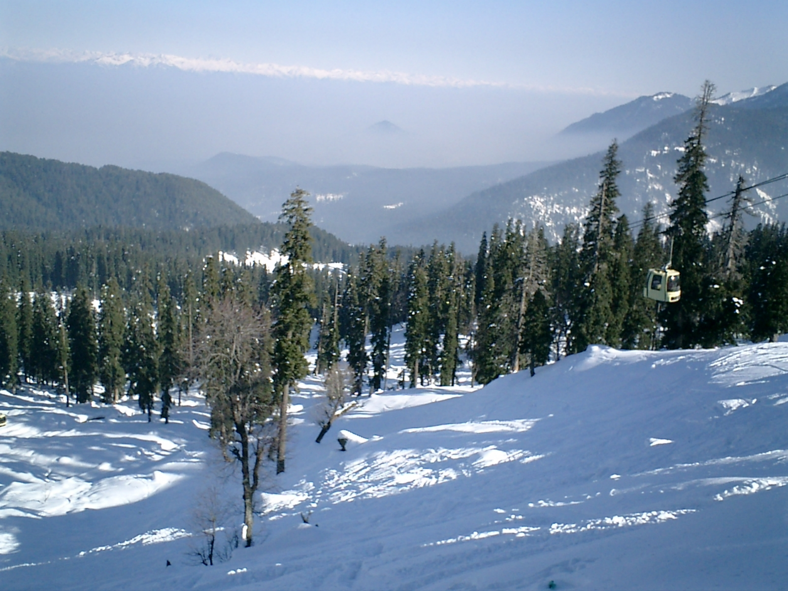 View from the top of Gulmarg's piste....