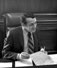 Cropped image of :Image:Harvey Milk in 1978 at...