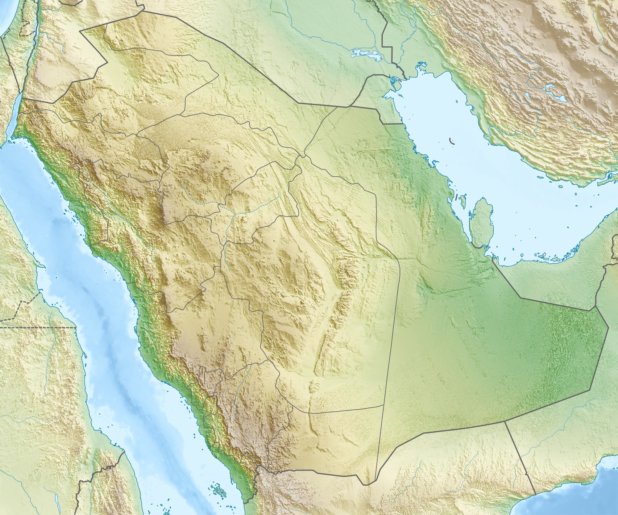 File Saudi Arabia Relief Location Map