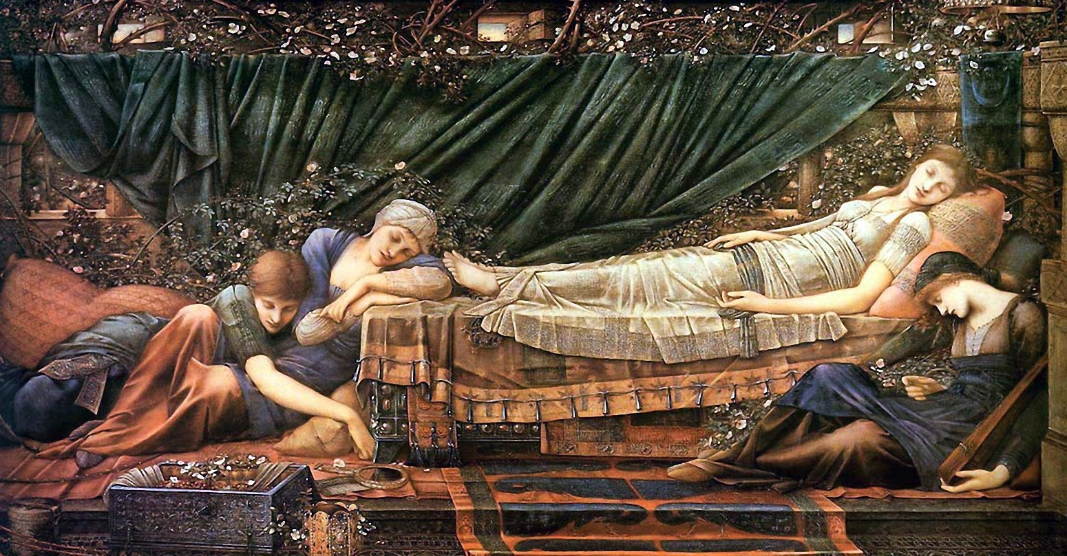 The Rose Bower, Edward Burne-Jones