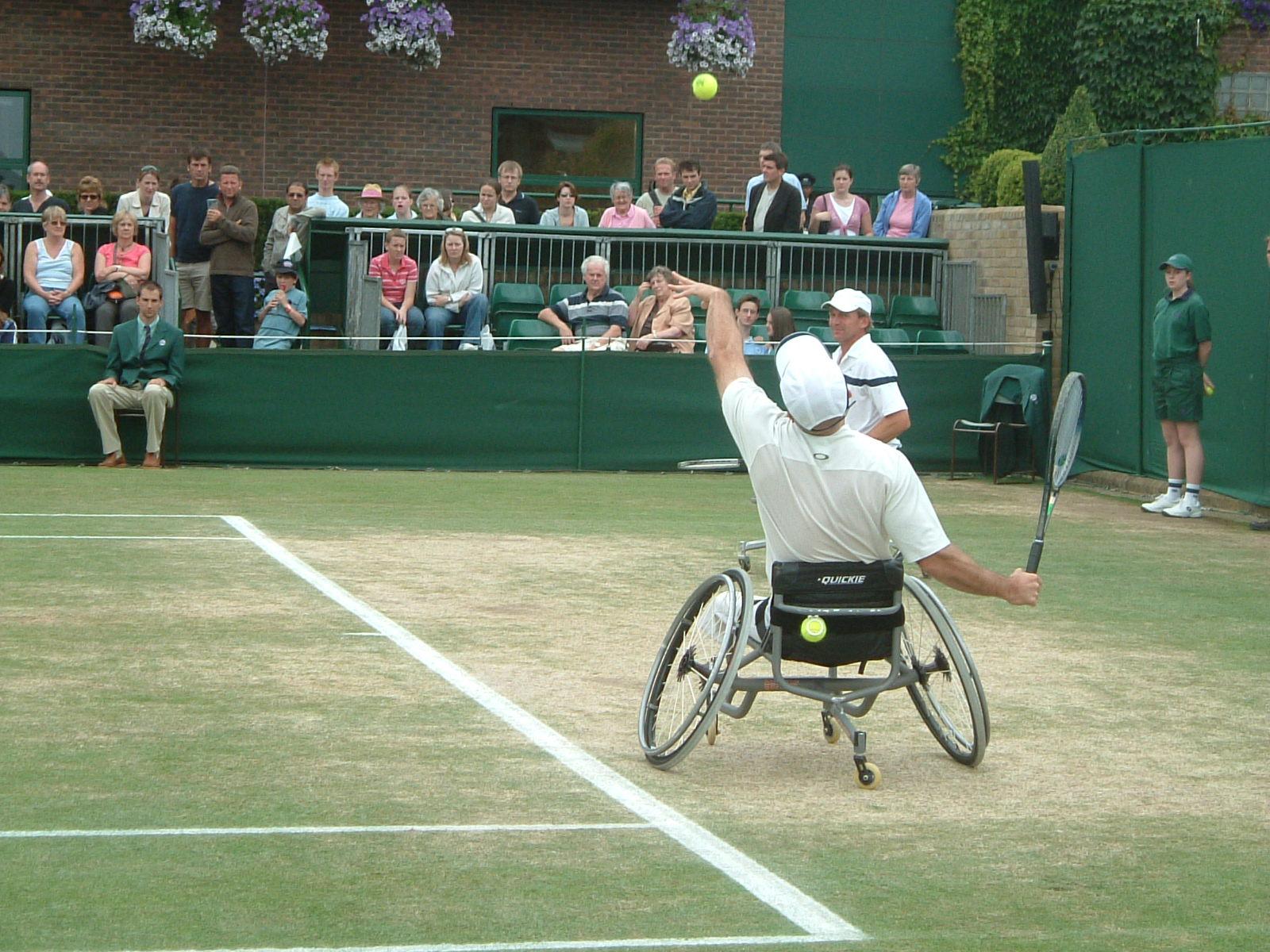 wheelchair jump soft cushion for office chair file wimbledon 2005 jpg wikimedia commons