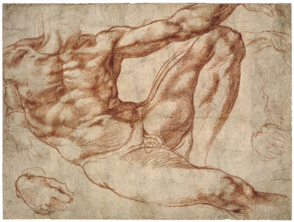 Does Reclining male nude necessary words