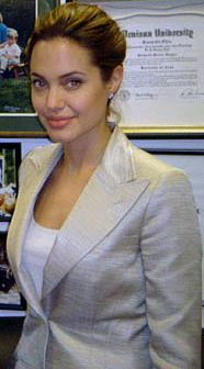 Angelina Jolies full lips