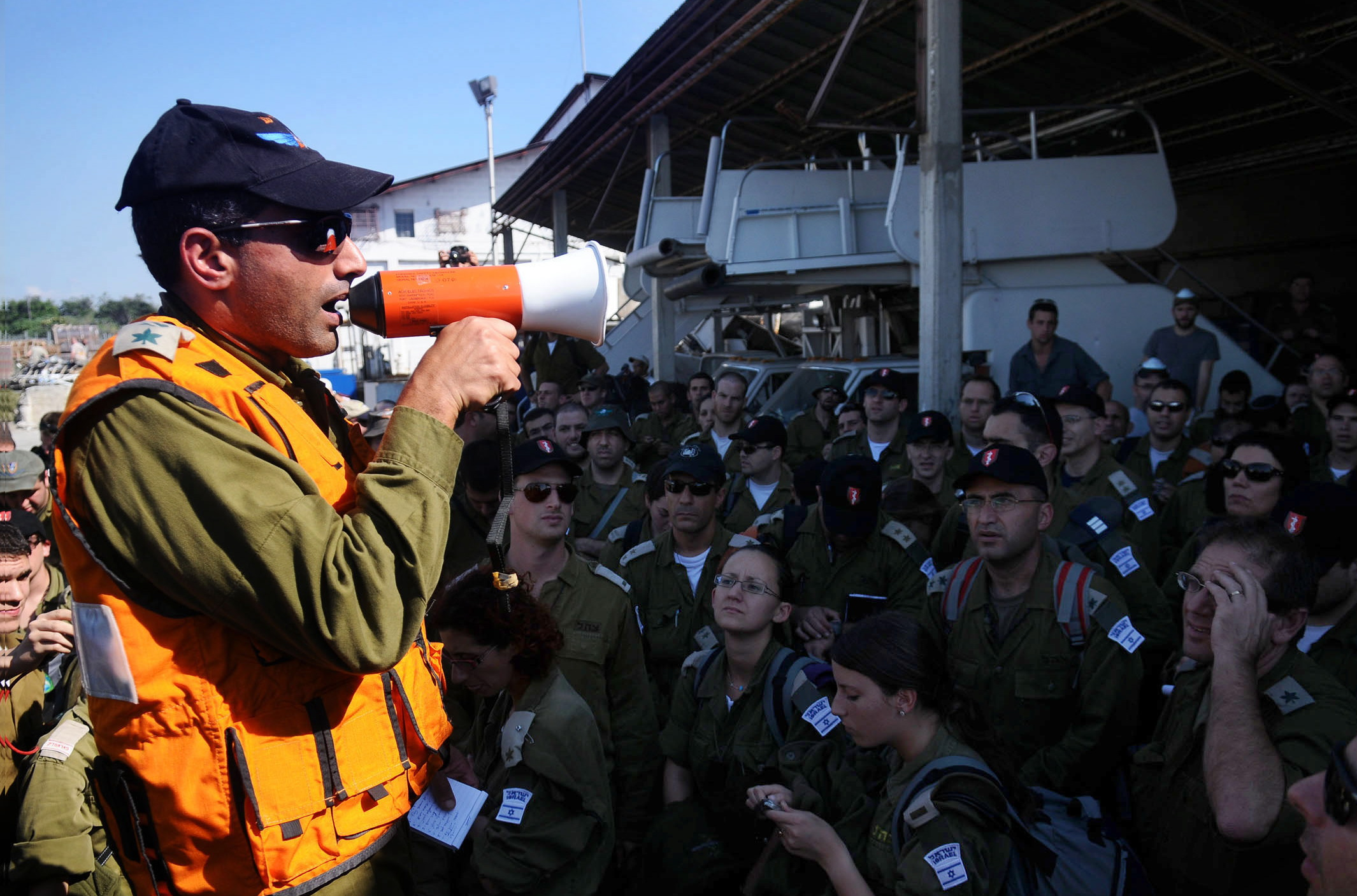 IDF aid delegation to Haiti