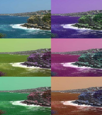 An image with the hues cyclically shifted