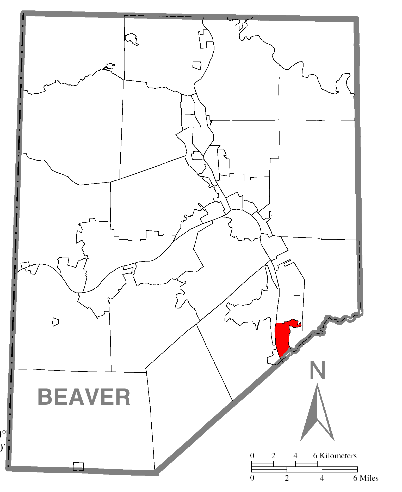 File:Map of Ambridge, Beaver County, Pennsylvania