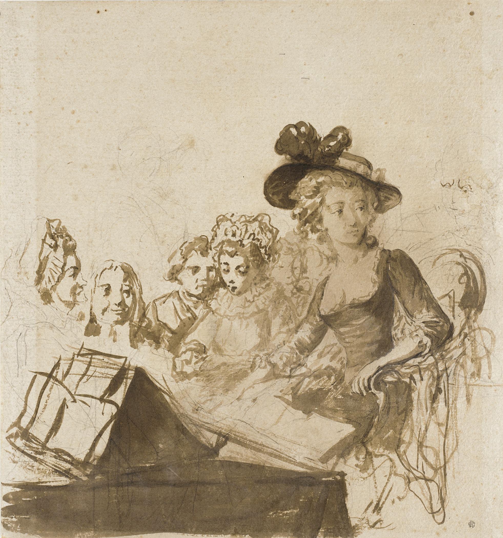 Soirée Intime, By Philibert-Louis Debucourt (France, Paris, 1755-1832), via Wikimedia Commons
