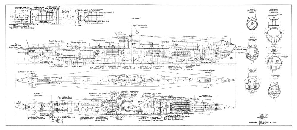 medium resolution of type viib german u boat diagram