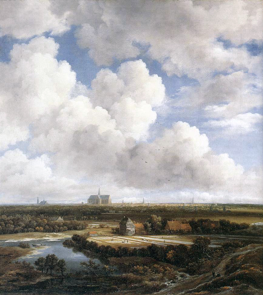 View Of Haarlem With Bleaching Fields  Wikipedia