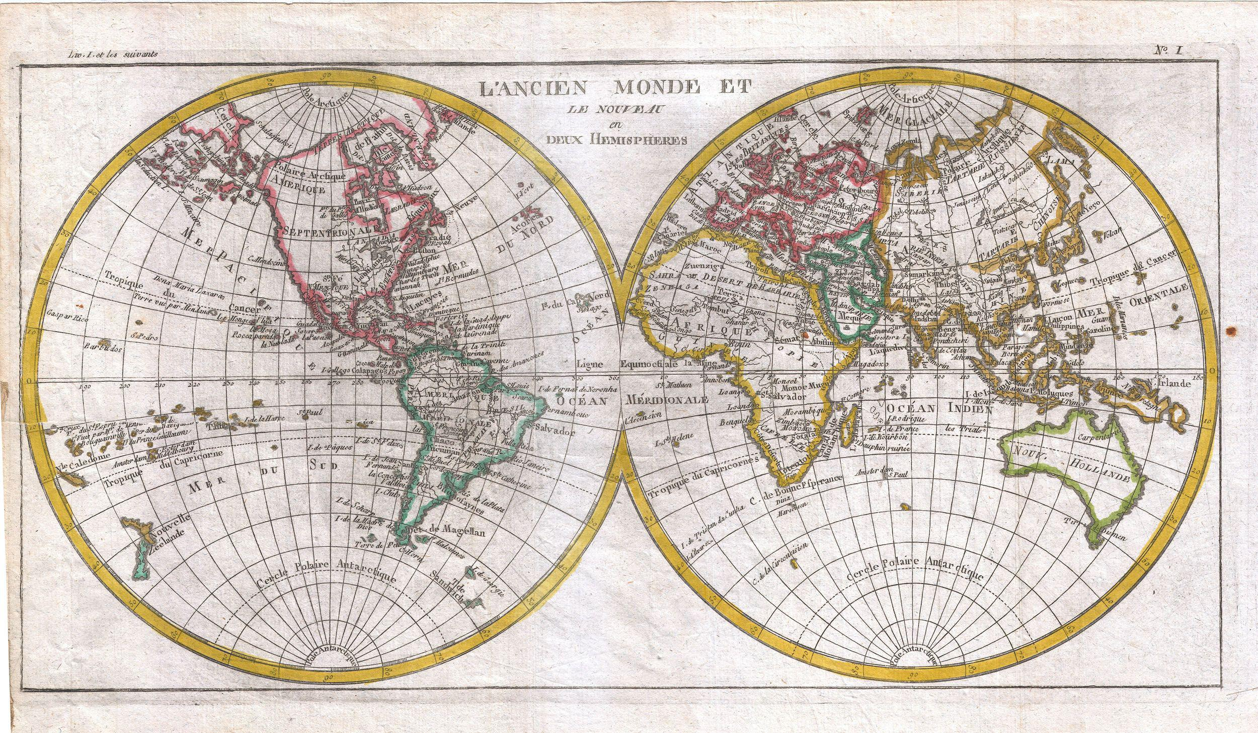 Solve Raynal And Bonne Map Of The Two Hemispheres