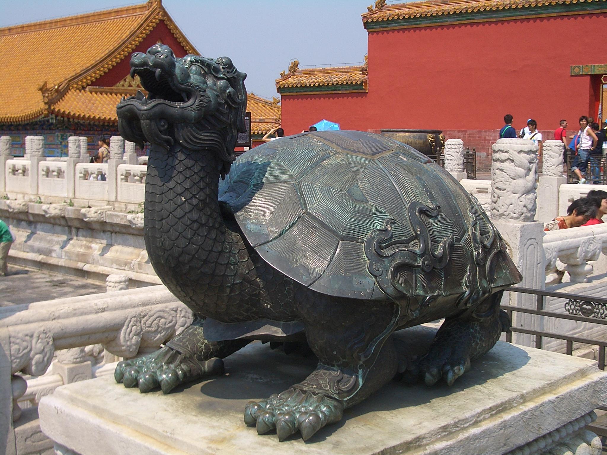 A tortoise statue in the Forbidden City, Beijing.