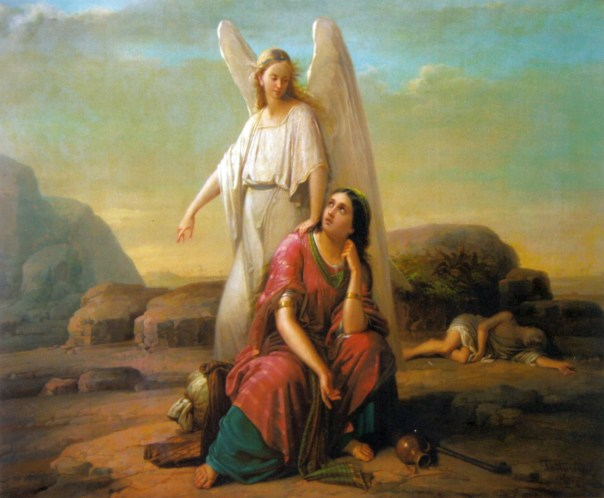 Angel speaking to Hagar image