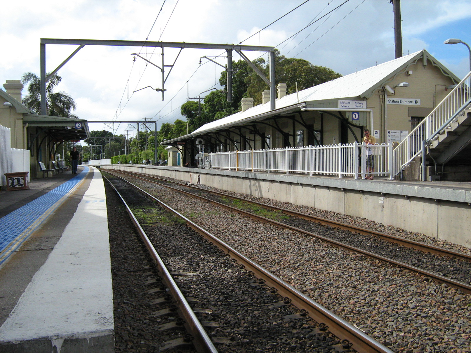 hight resolution of hamilton railway station new south wales