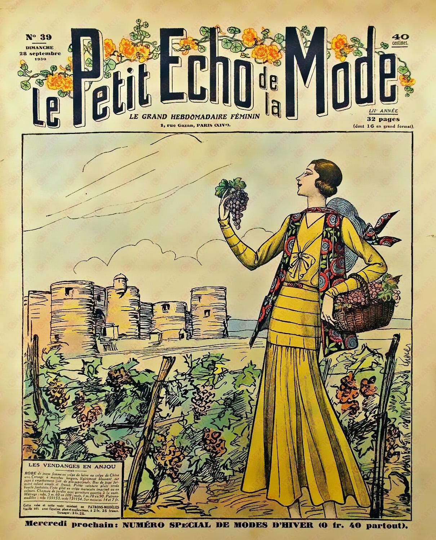 Petit Echo De La Mode : petit, File:Le, Petit, écho, Grappe, Raisin, 1930.jpg, Wikimedia, Commons
