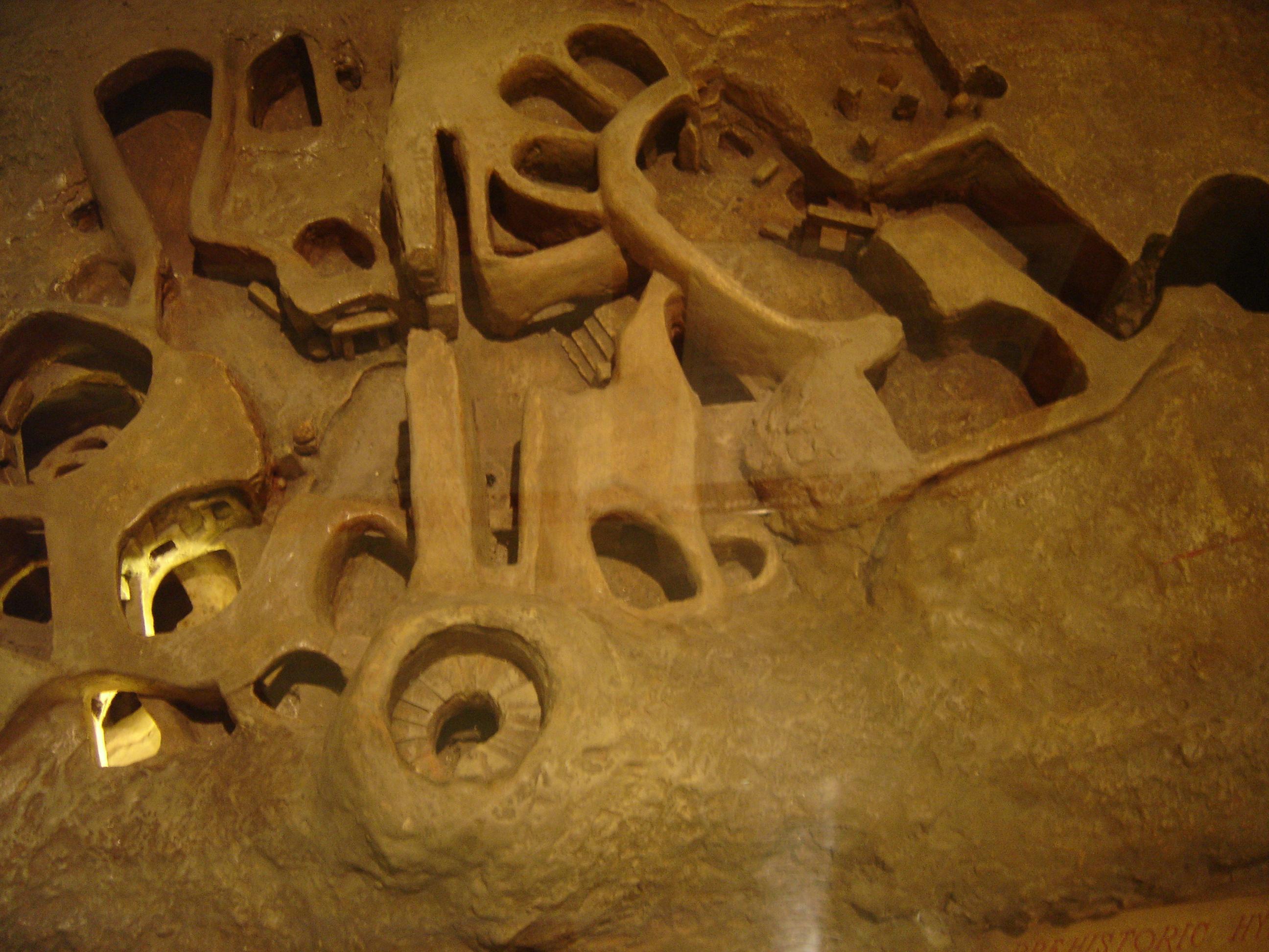 Modell der unterirdischen Hypogäum von Ħal-Saflieni von Malta aus der Vogelperspektive