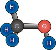 metanol en 3D