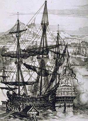 A Spanish Galleon. The Galleon was a tough fig...