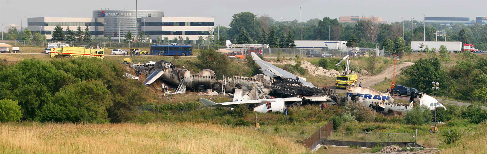 Image de l'airbus A 340 un jour après son crash