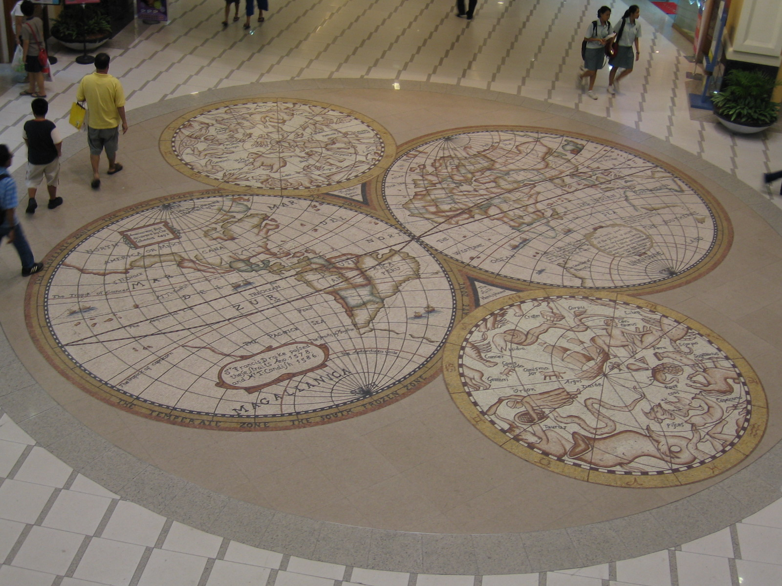 file floor mural at compass point jpg