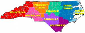 Sozioökonomische Regionen North Carolinas