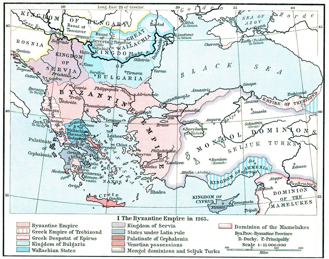 Byzantine Empire Under The Palaiologos Dynasty