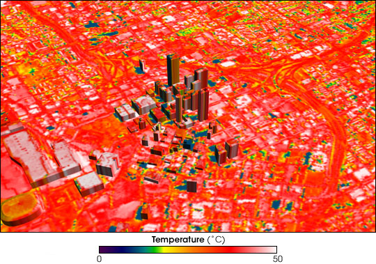 Downtown Atlanta in infrared.