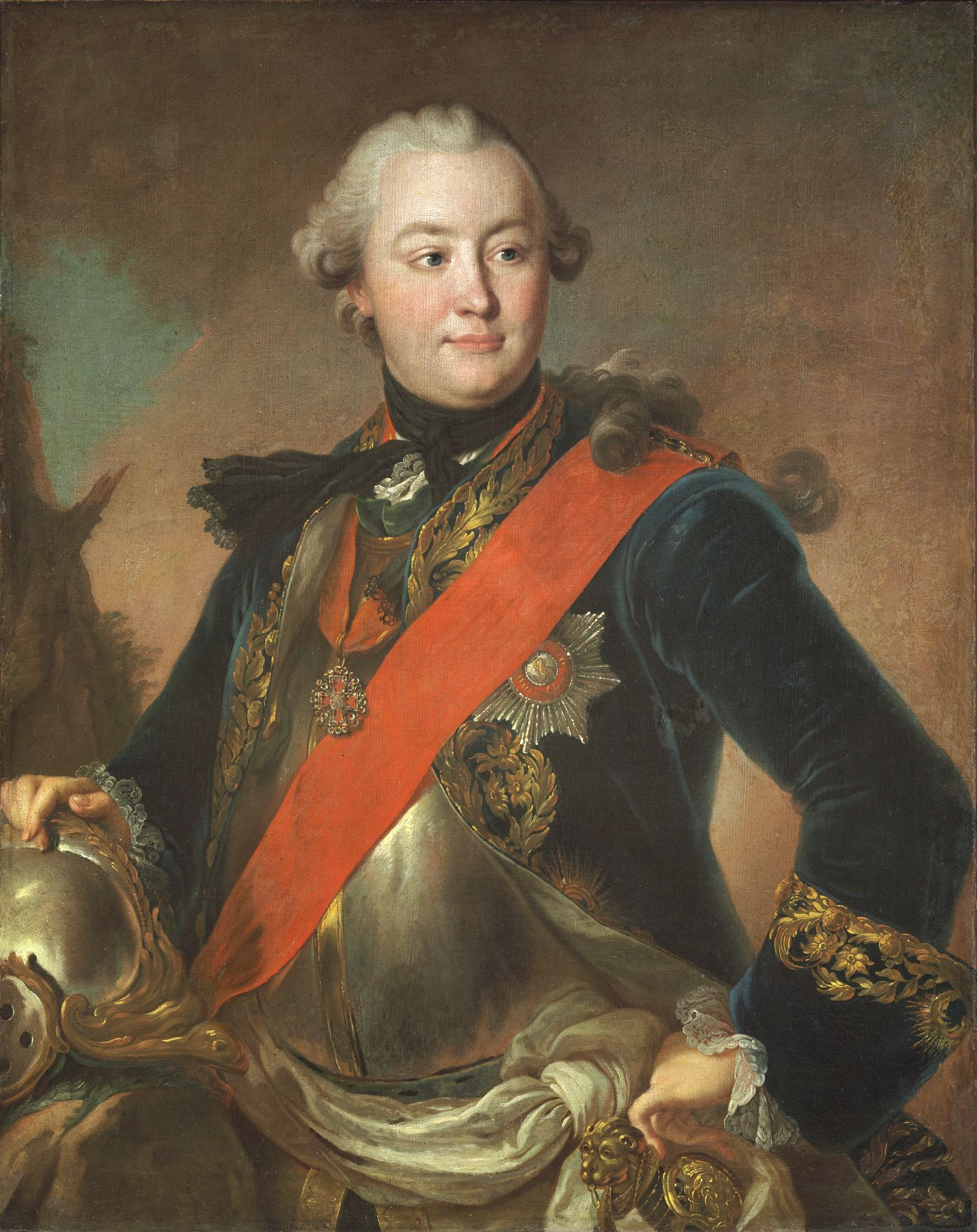 Grigory Orlov, one of the leaders of the coup. Portrait by Theodore Rokotoff, 1762-1763.