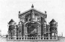 Palais Garnier Section Drawing