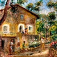 """Collette's House in Cagnes"" by Pierre-Auguste Renoir"