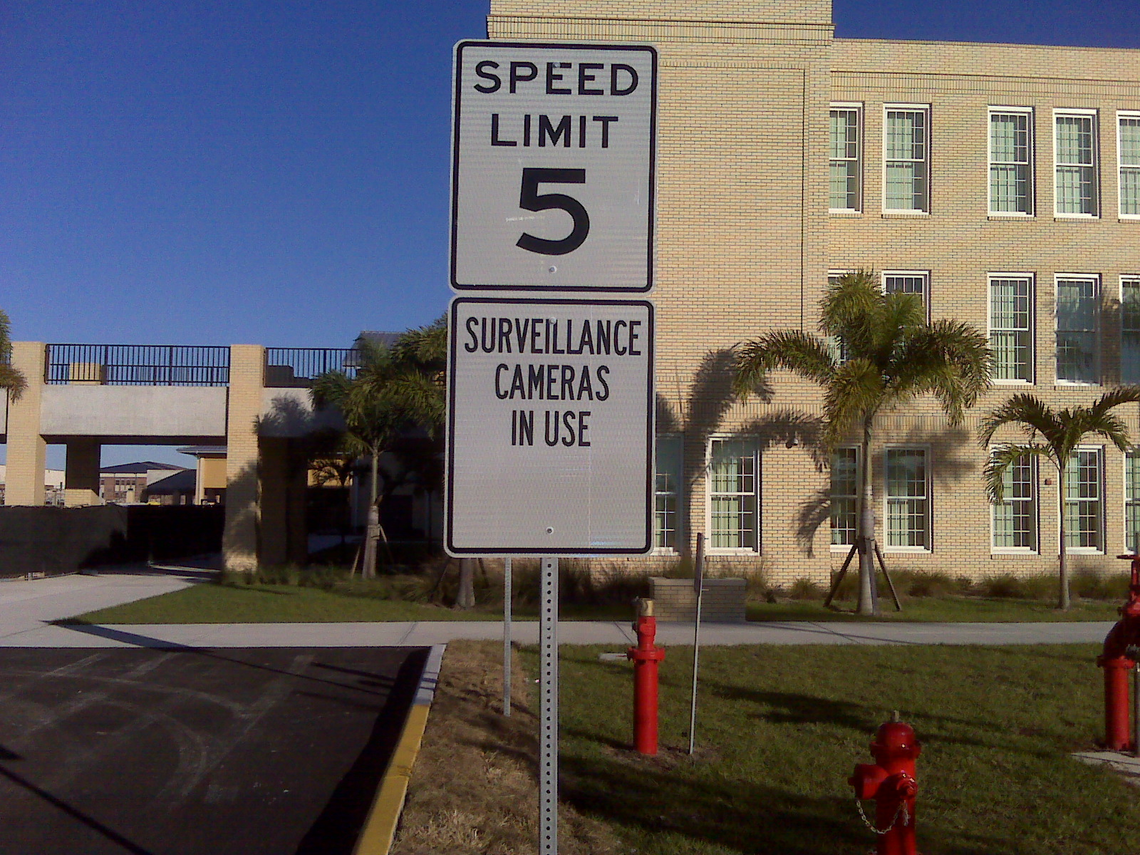 "English: Speed limit sign and ""Surveillan..."