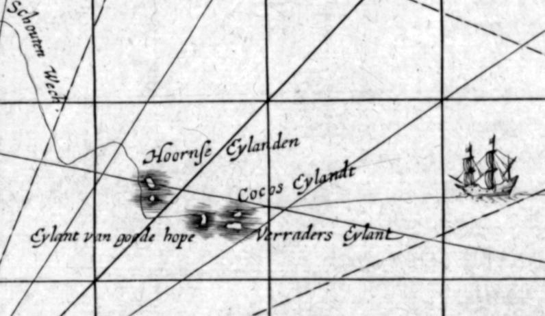 File:1619 Schouten map close-up (Niuas, Futuna and Alofi