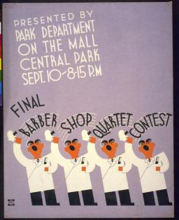 Barbershop quartet WPA poster