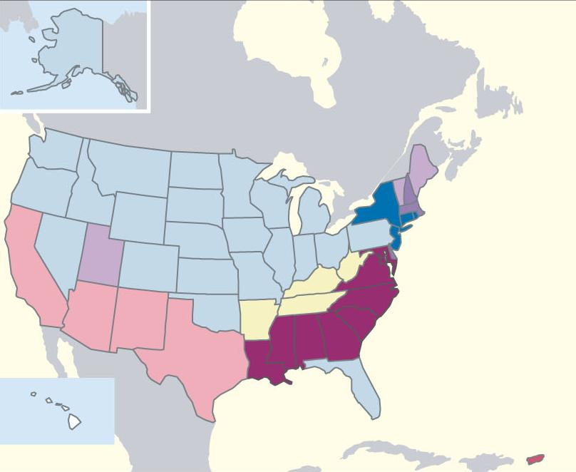 US Census Ancetries by State