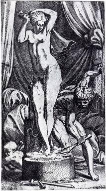 Pygmalion sculptant Galatée (Primatice)