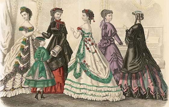 Godesy fashion plate 1869 19th Century Fashion