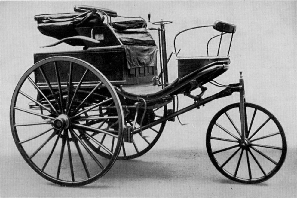 The Benz Motorwagen No. 3 made in 1888. This was the car which Karl Benzu0027s wife started up and drove off in on that August day over 120 years ago : car chaise - Sectionals, Sofas & Couches