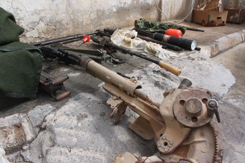 Weapons used in the Libyan civil war of 2011. Many of them were produced in Europe.
